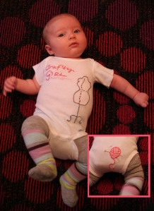 Crafty Girl Embroidered Onesie